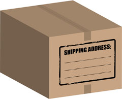 shipping address label