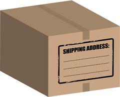shipping address label
